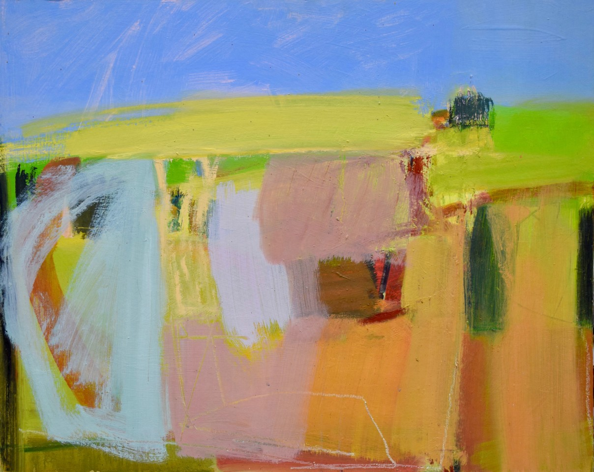 Dafila Scott, Going up the Hill in Summer (London Gallery)