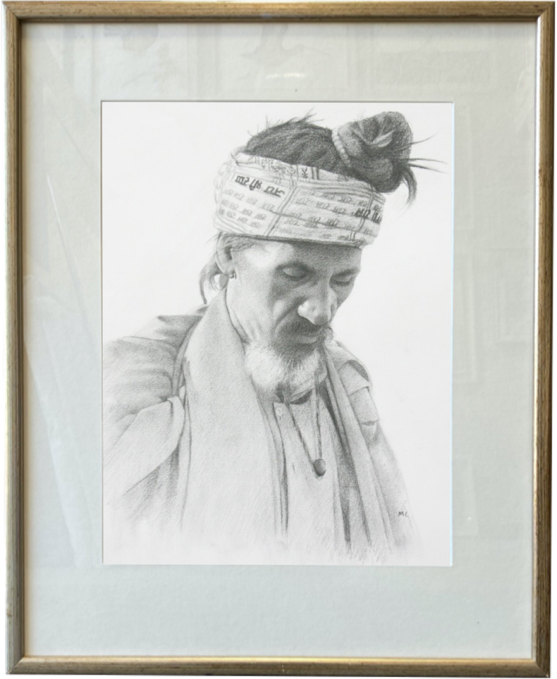 Mark Clark, Holy Man, Samode, Rajasthan (London Gallery)