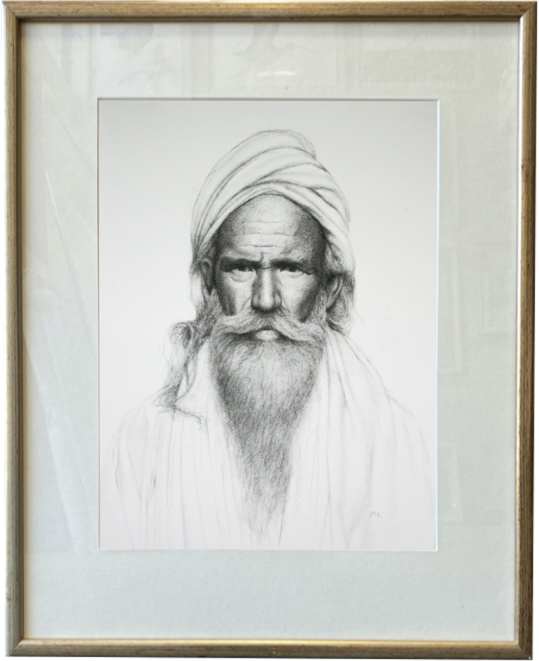 Mark Clark, Rajasthani Man (London Gallery)