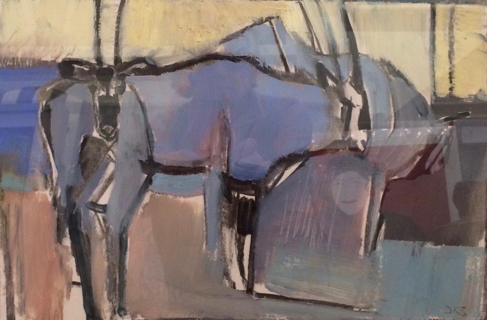 Dafila Scott, Gemsbok Resting (London Gallery)
