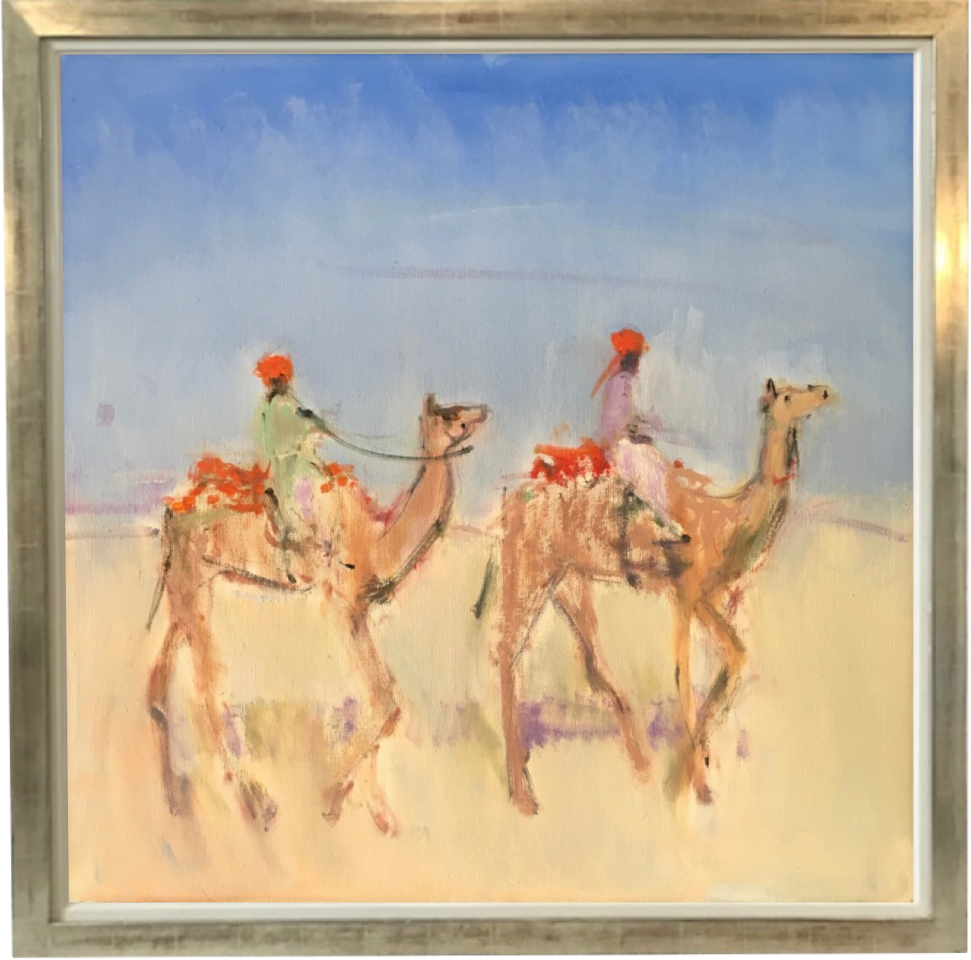 Ann Shrager, Two Boys on Camels (London Gallery)