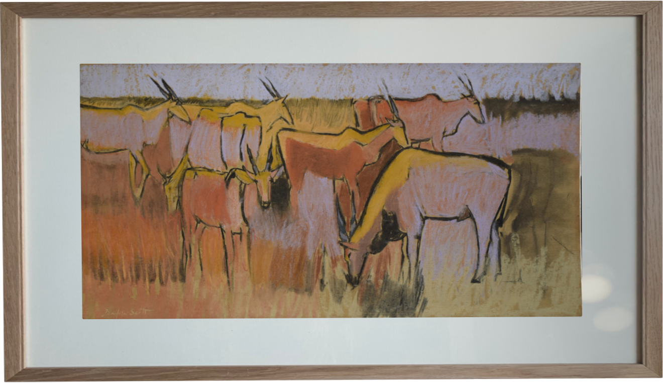 Dafila Scott, Eland in the Dry - Kalahari (Dew Pond Restaurant)