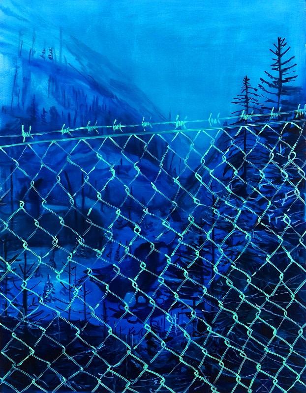 Lucy Smallbone, Blue Fence, 2017