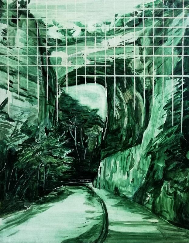 Lucy Smallbone, Green Grid, 2018