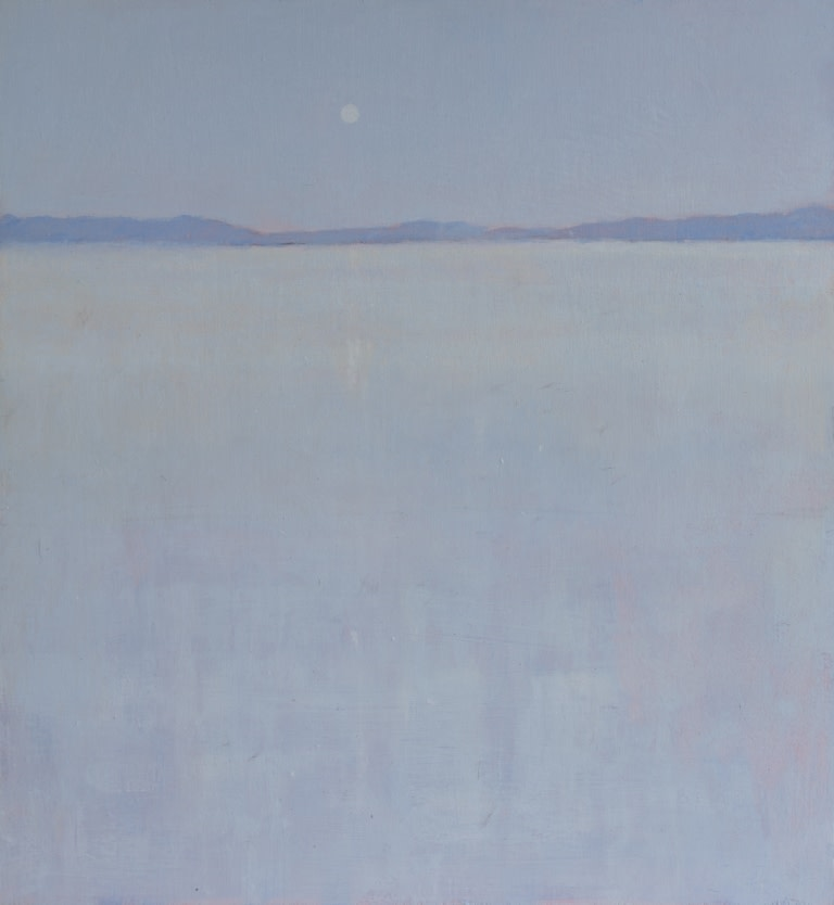 Herman Lohe, View over the lake of Molkom, 2019