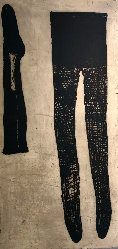 Ritsuko Ozeki, Slough - Netted Tights and One Sock, 2000