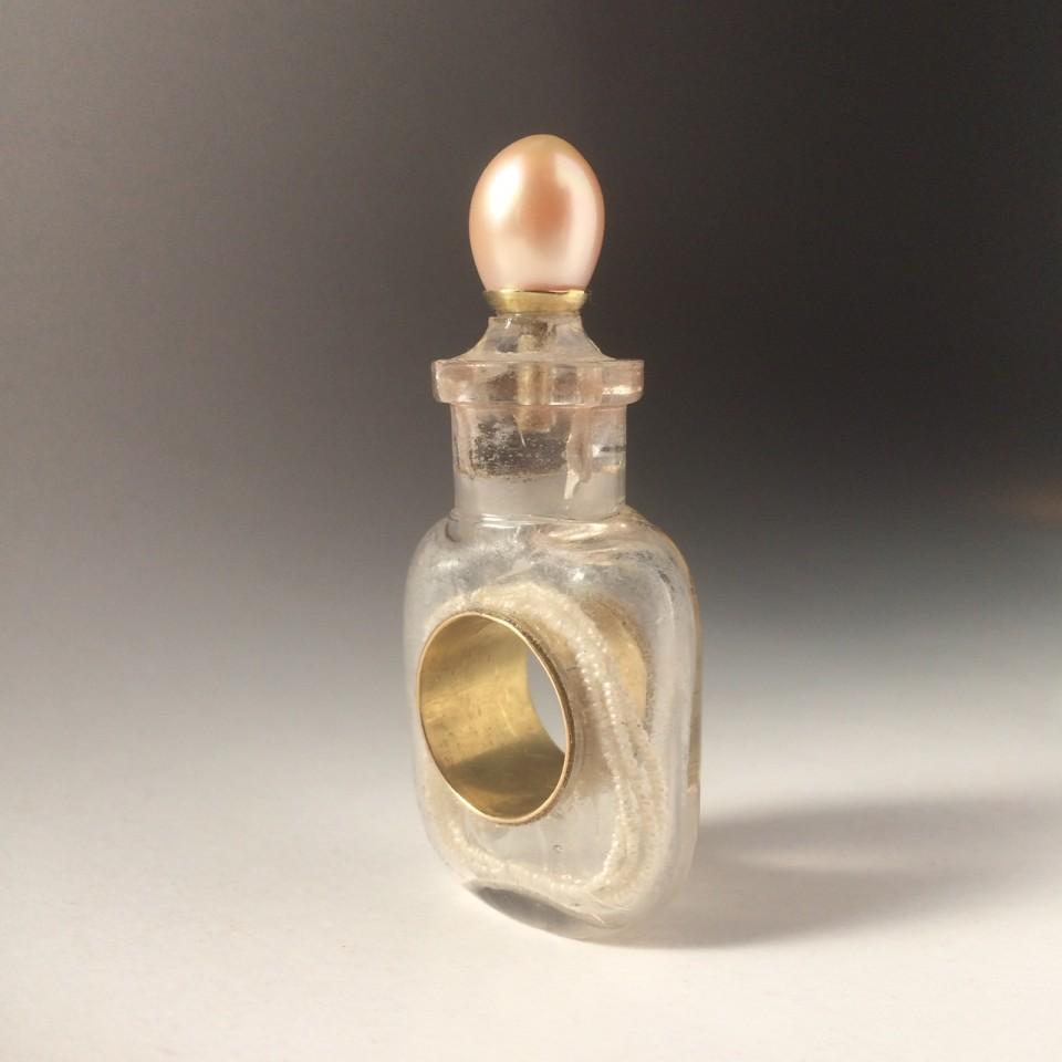 Bernhard Schobinger, Perfume Bottle Ring, 2019