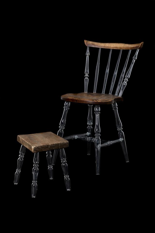 Caroline Broadhead, Chair with Glass Legs, 2019