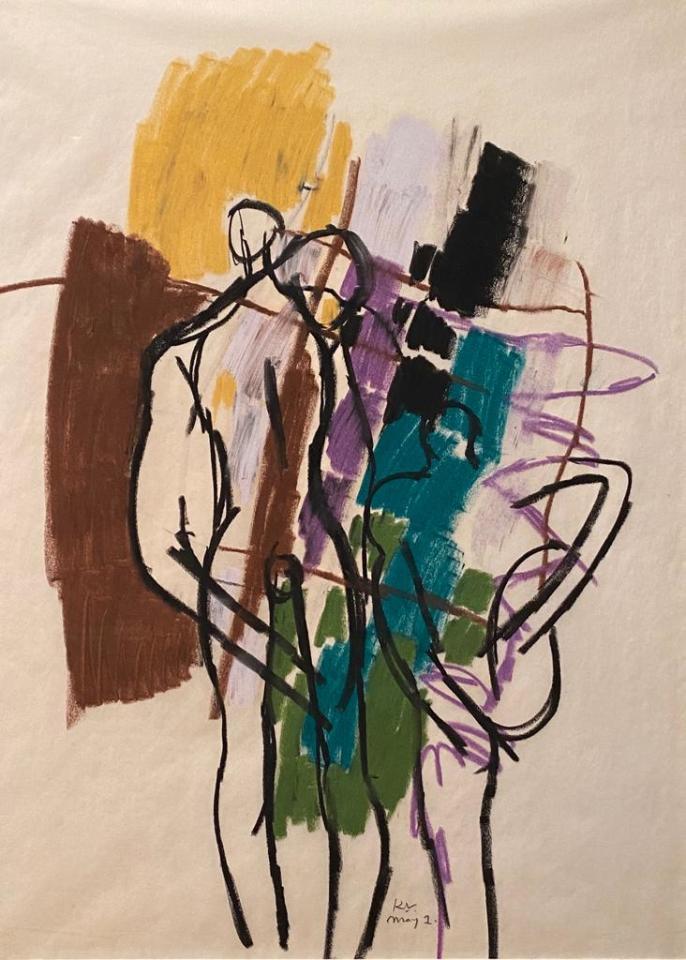 Keith Vaughan, 1912-77, Three Figures, c.1960