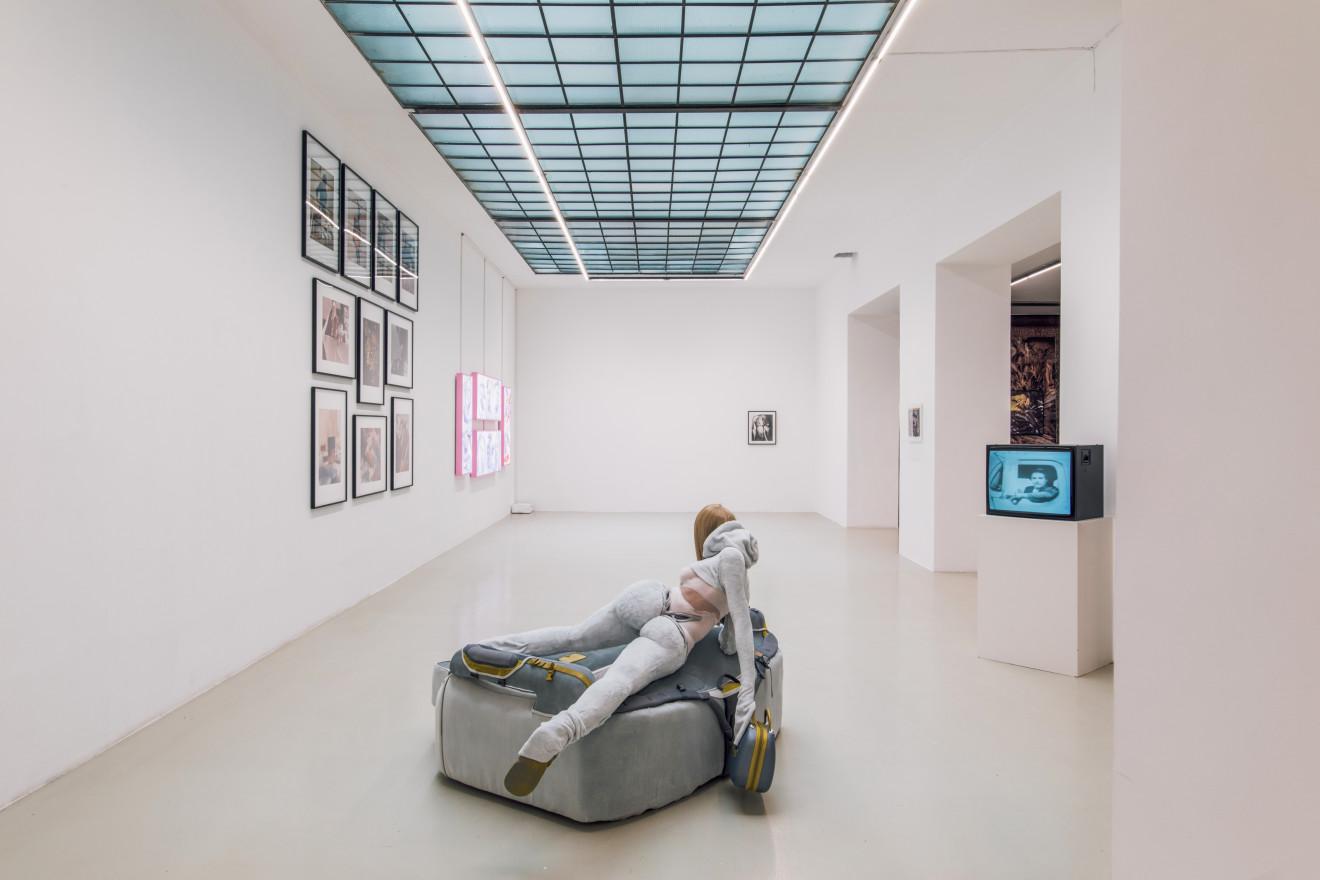 Cursed Images curated by Ed Fornieles, Installation View: Anna Uddenberg, Rachel Mclean, Valie Export, Rudolf Schwarzkogler, Ann Hirsch, 2019