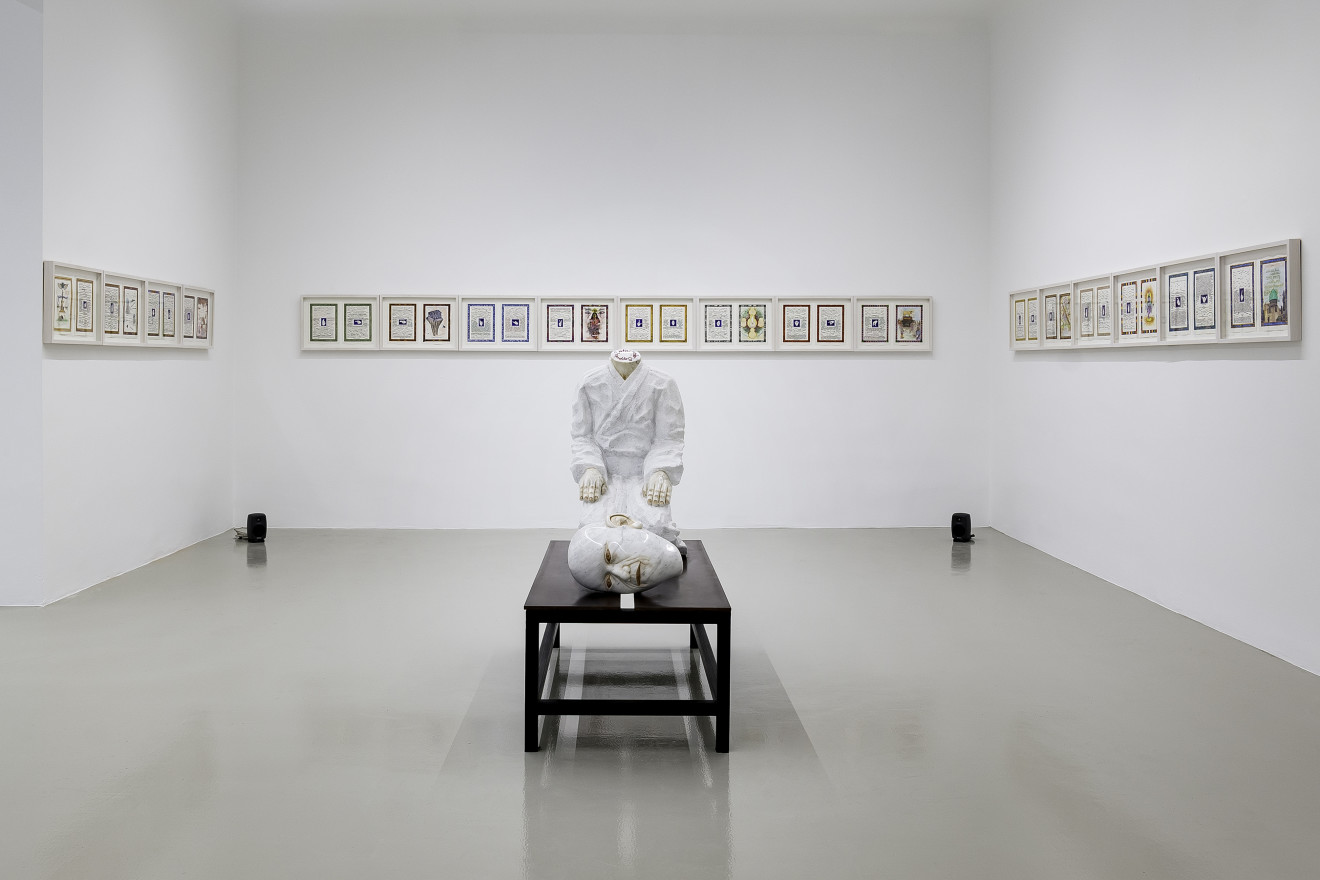 """Markus Redl """"Mudras"""" Installation View No.2, 2017"""