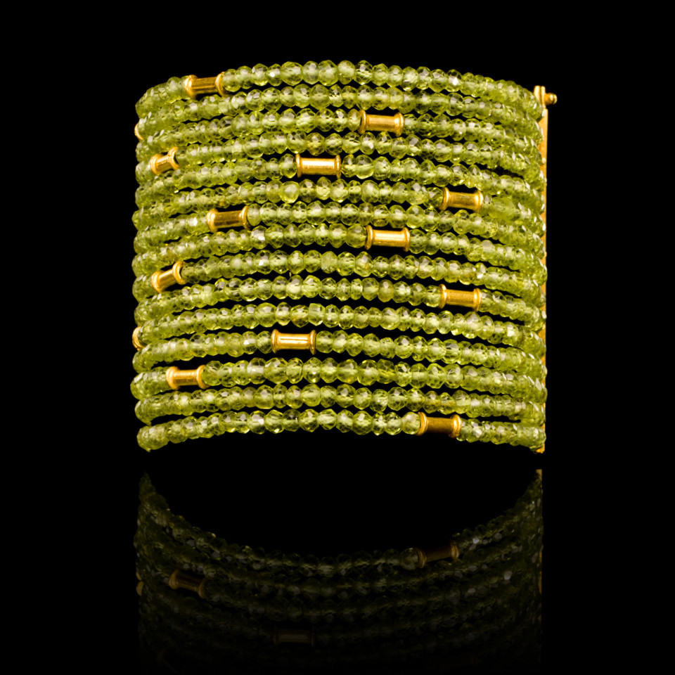 Peridot cuff Bracelet