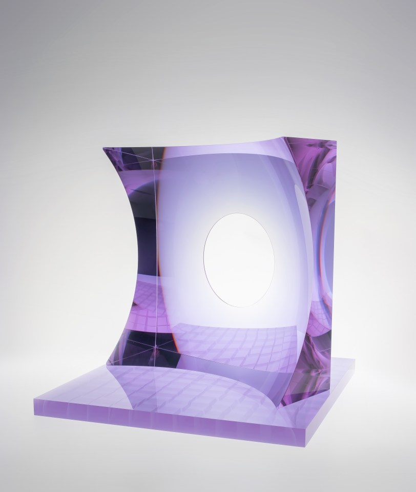 Oliver Lesso, Glass Architecture, Violet, 2018