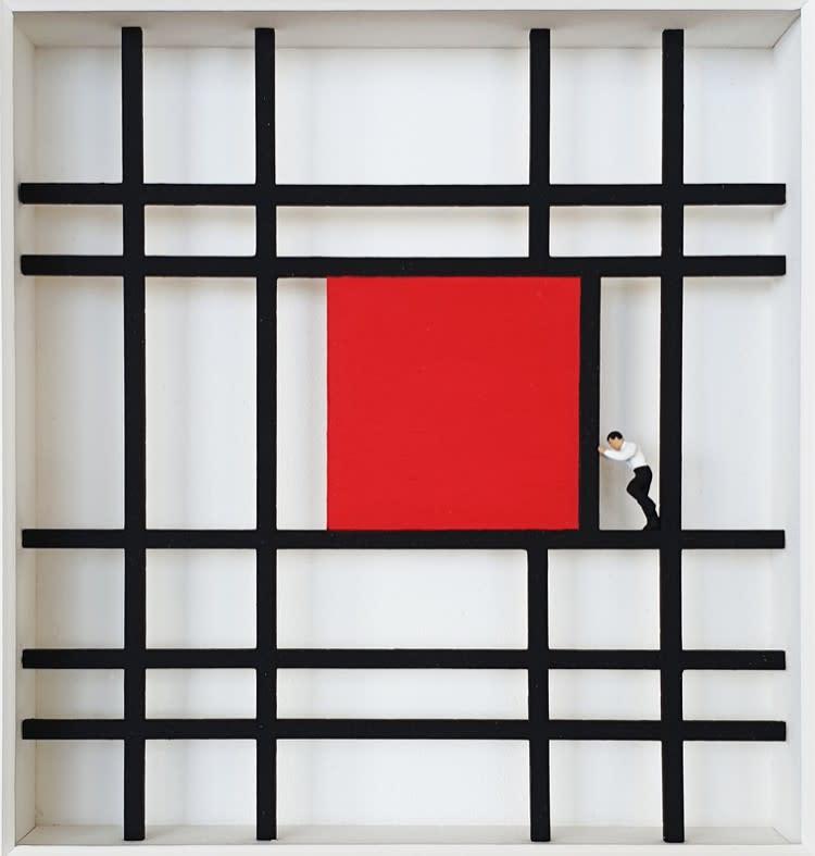 Volker Kuhn, Homage to Mondrian, Shifting