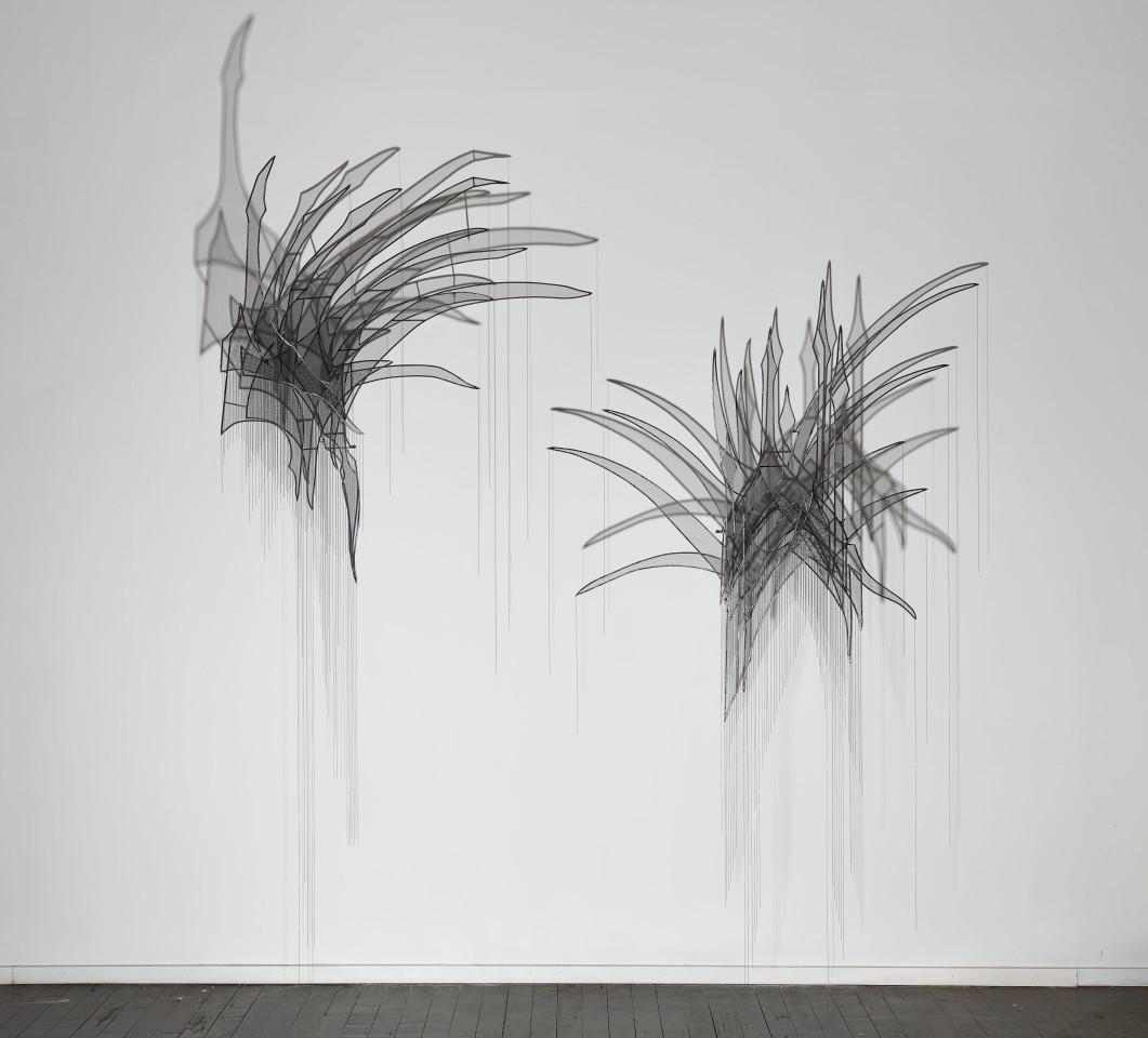Afruz Amighi, Head Feather I, Head Feather II, 2017