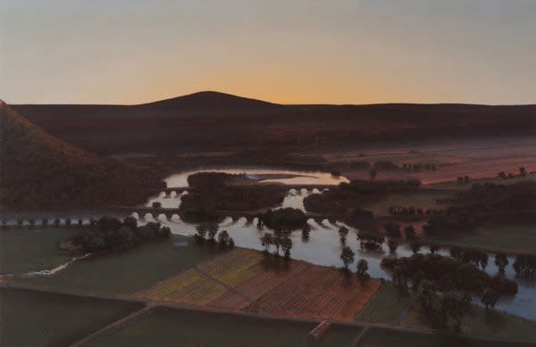 Stephen Hannock, Evening Oxbow; For Agnes and Betty (Mass MoCA #178)