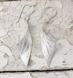 Marsha Drew, Tempest Earrings with Linear Texture