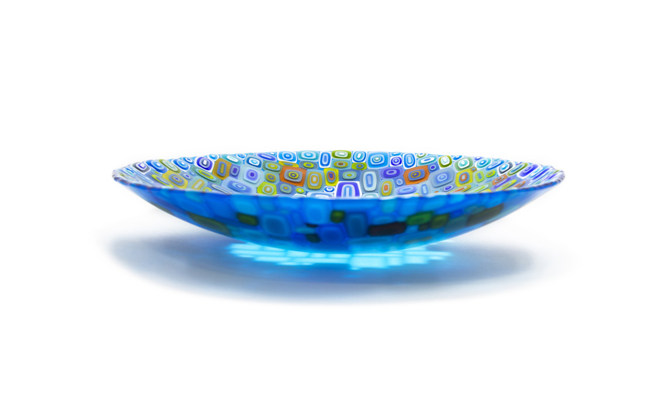 David Pascoe, Round Turquoise Allsorts Bowl