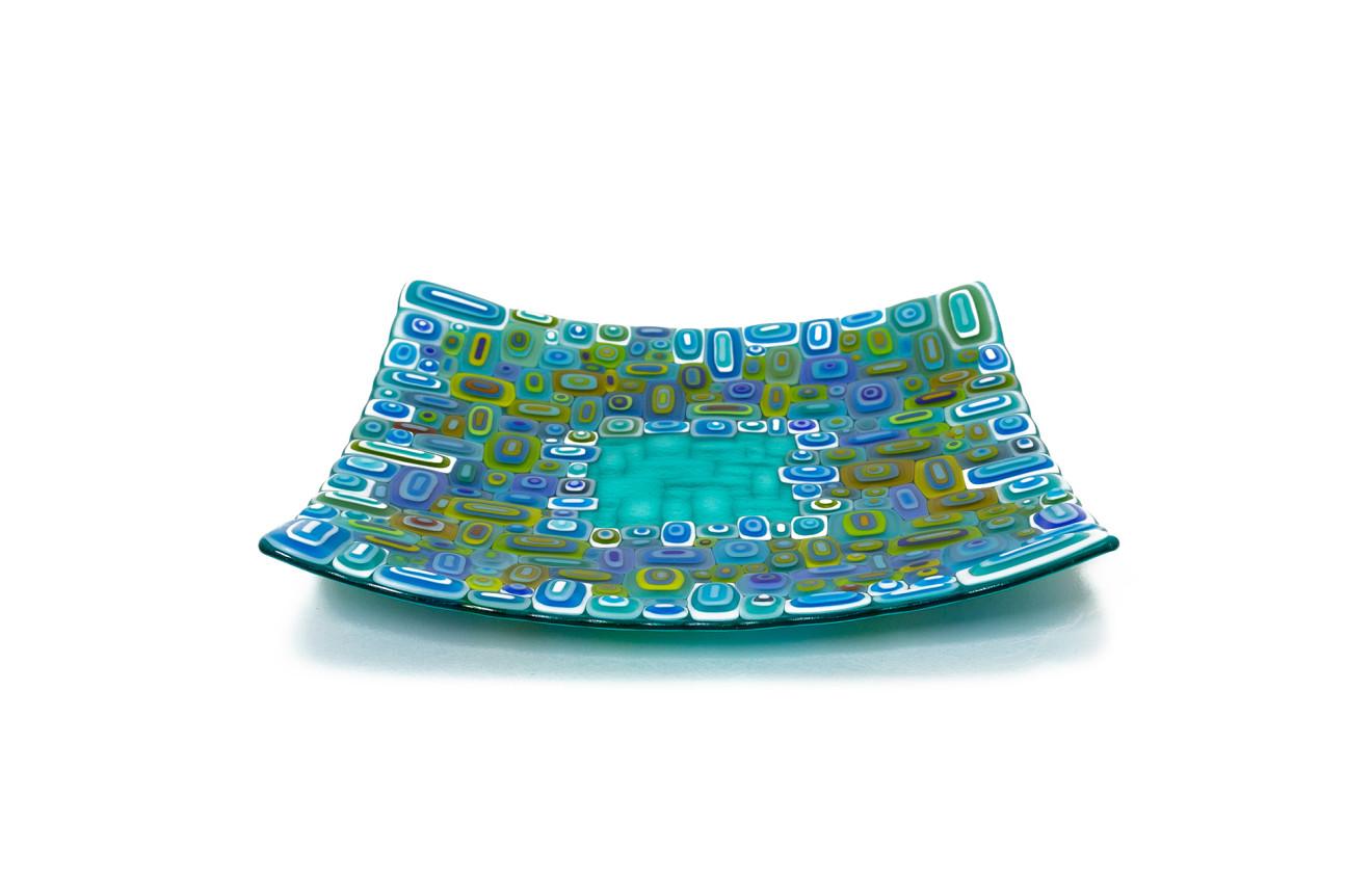David Pascoe, Square Turquoise Allsorts Dish