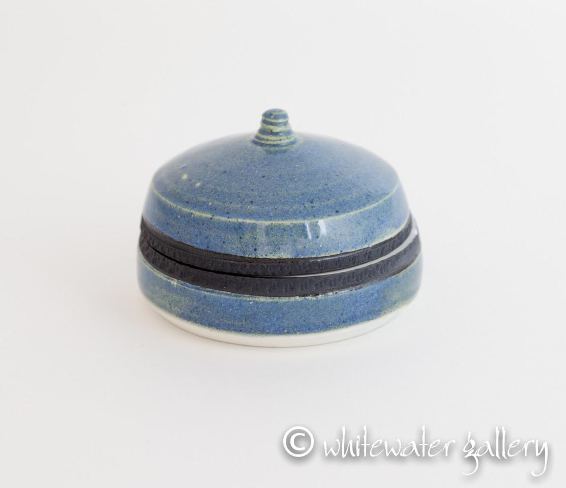 Hugh West, Lidded Circular Box Blue