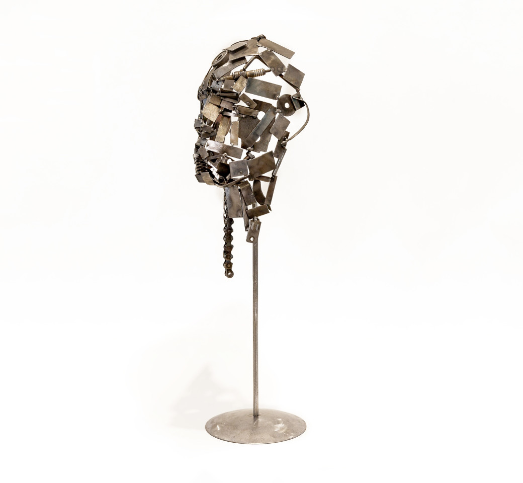 Kerry Whittle, Fragment Head with Found Items