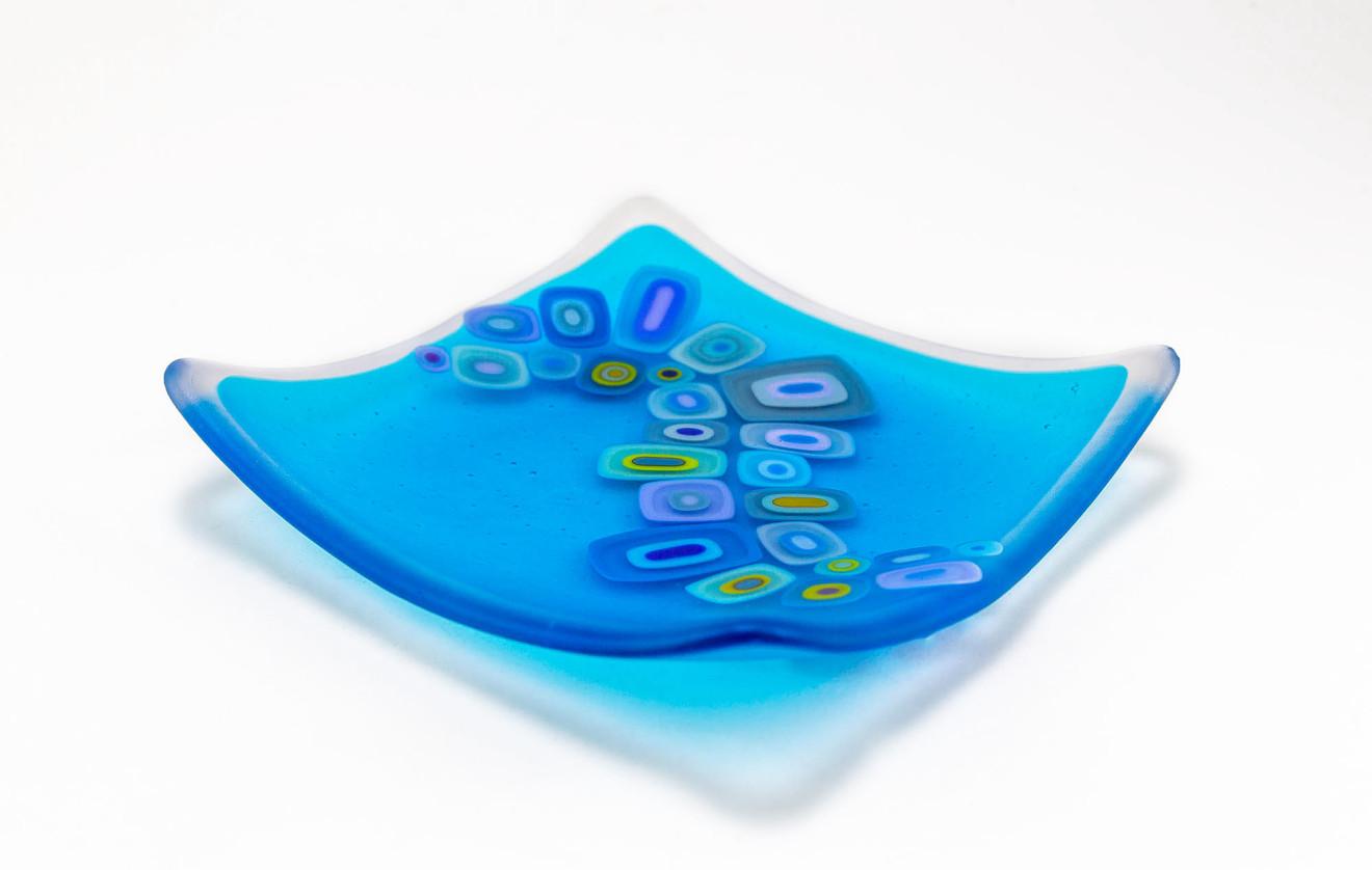 David Pascoe, Square Allsorts Dish Light Turquoise