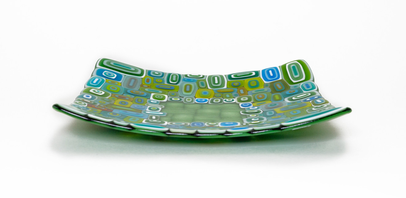 David Pascoe, Square Leaf Green Allsorts Dish