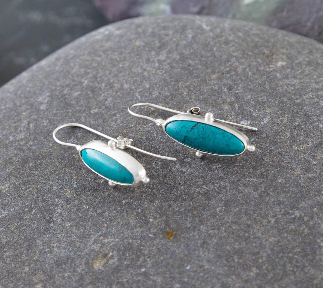 Marsha drew, Morwen Drop Earrings Long turquoise