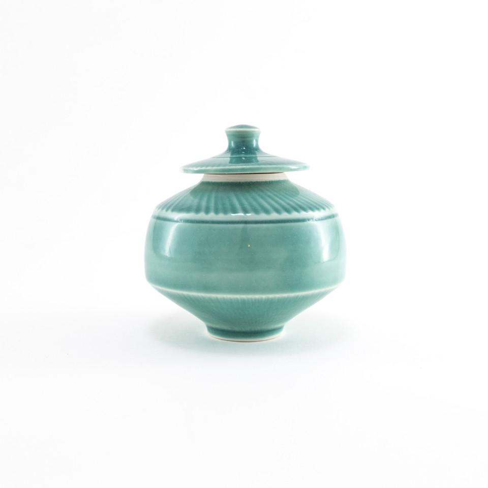 Hugh West, Turquoise Lidded Pot, 2021