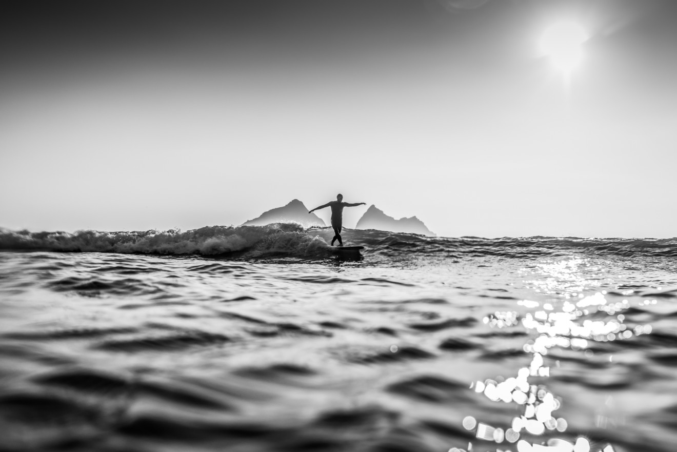Nick Reader, Surfing at Holywell