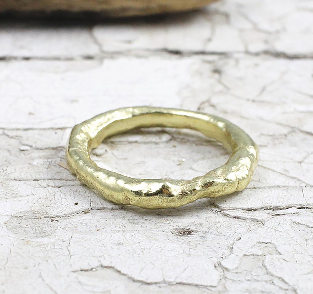 Marsha Drew, Rustic Gold Ring