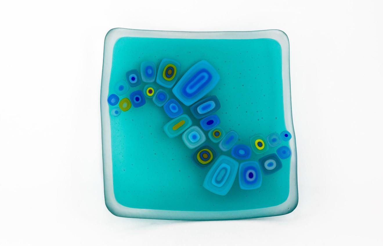 David Pascoe, Square Allsorts Dish Light Aqua