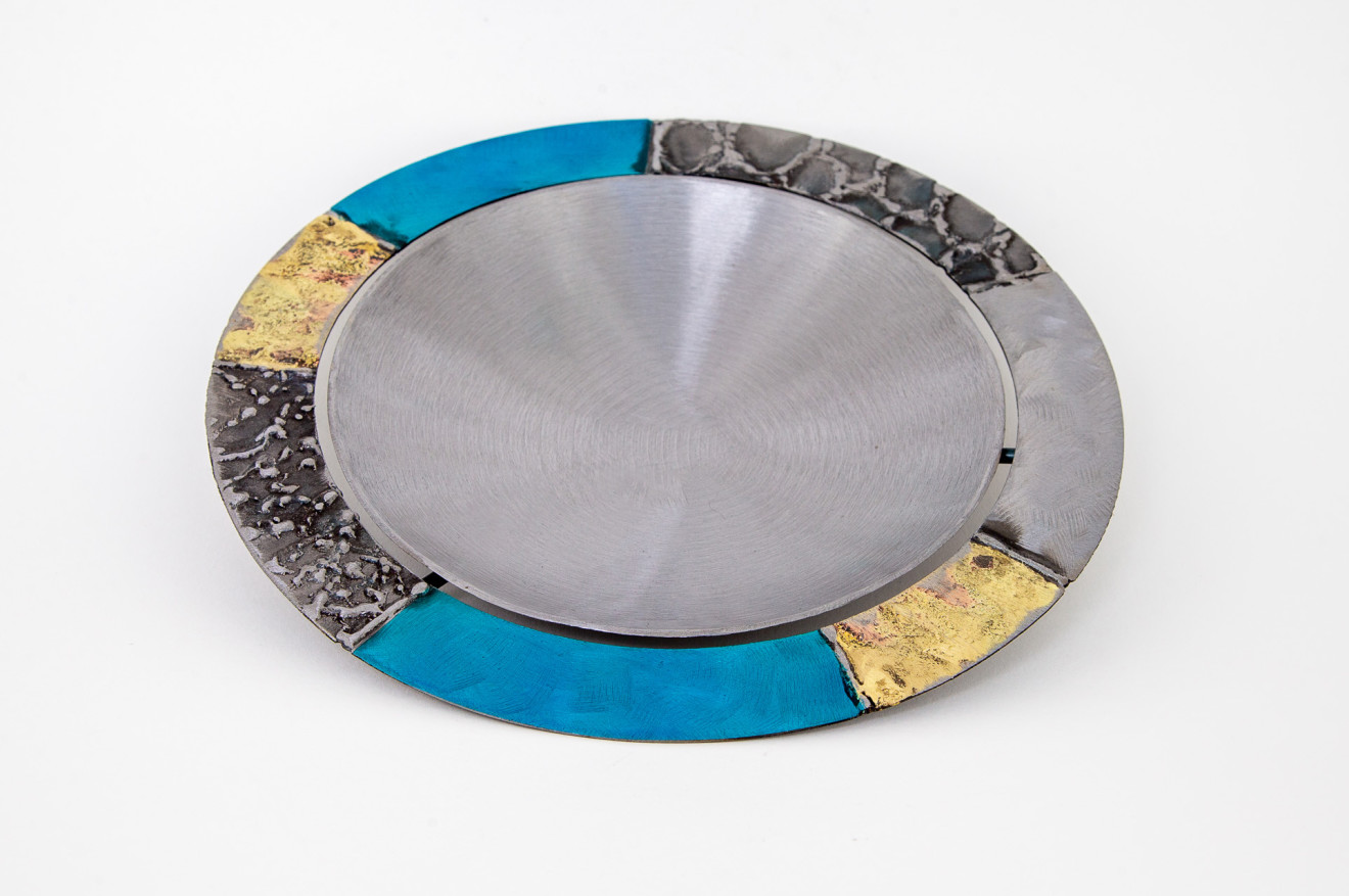 Tilly Whittle, Bowl with Gold and Blue Rim