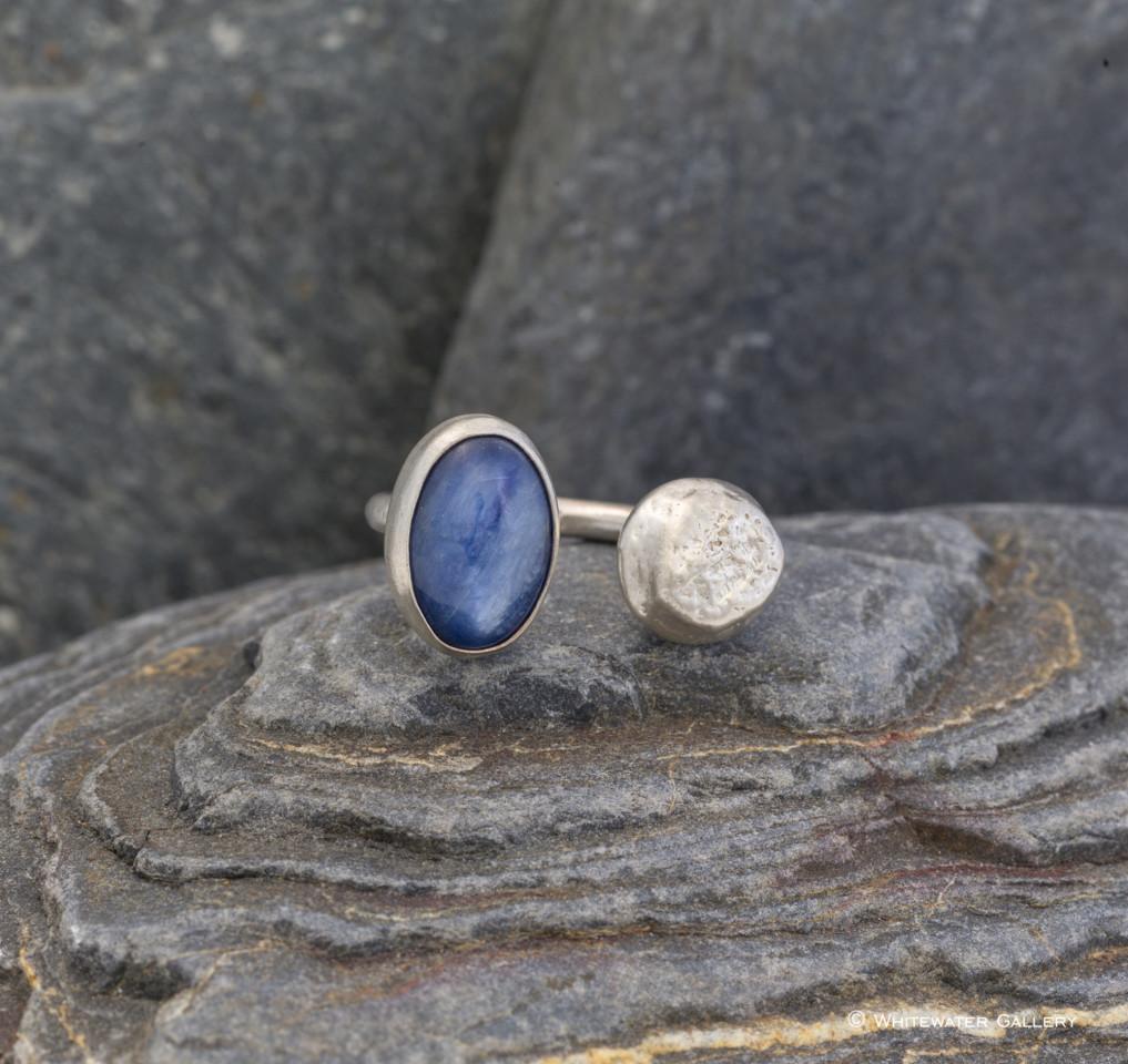 Marsha Drew, Pebble Ring with Kyanite