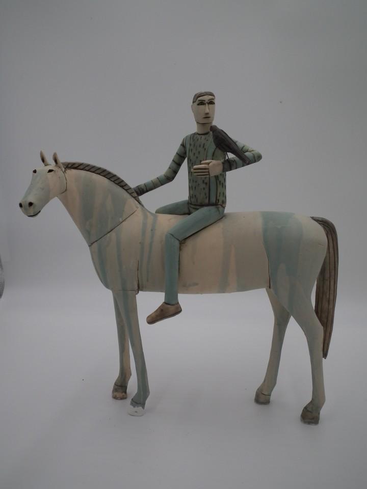 Anna Noel, Rider with Hawk