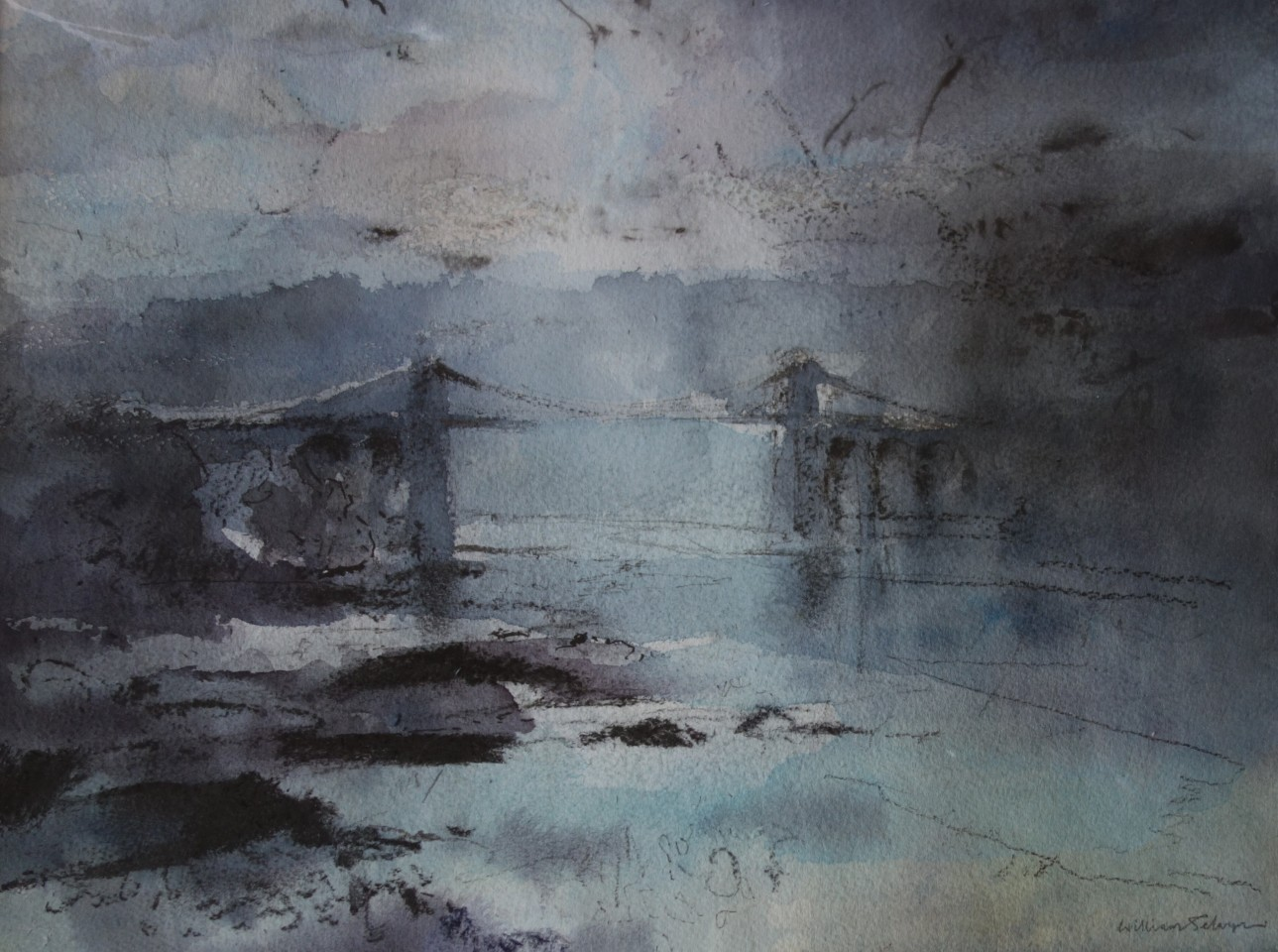 William Selwyn, Sunrise, Menai Bridge