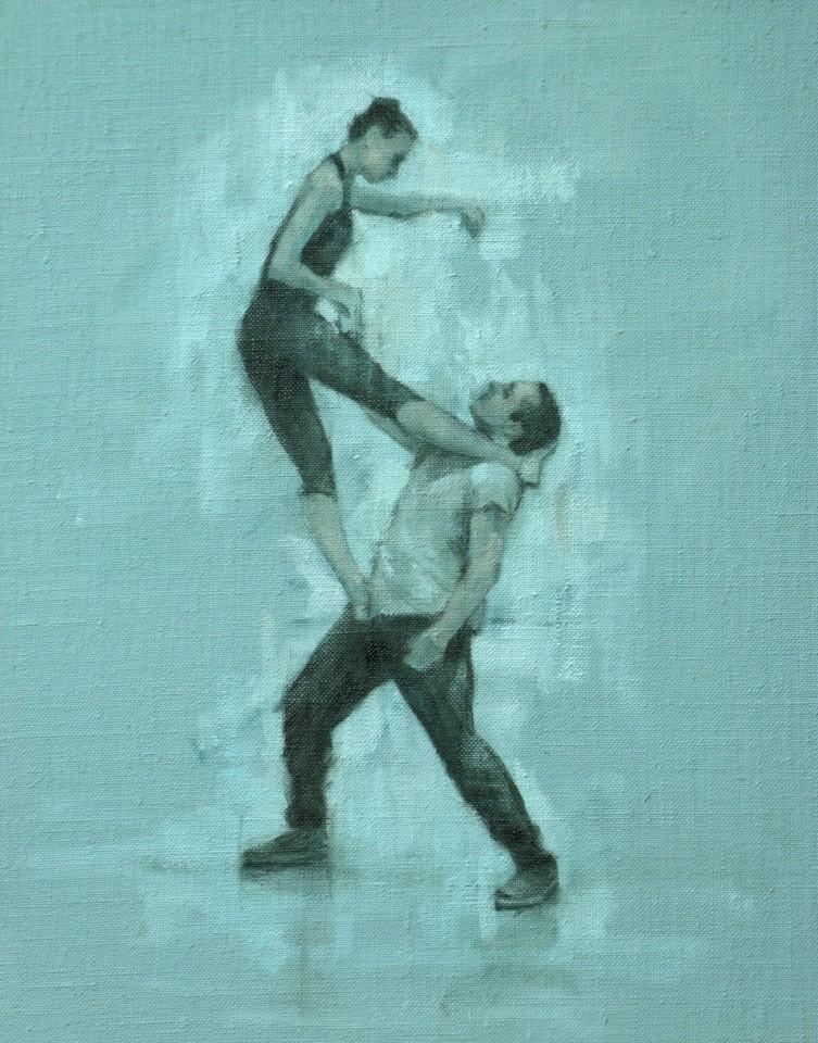 Carl Chapple, Gwenllian Davies and Tim Podesta (Ballet Cymru Rehearsal 90)