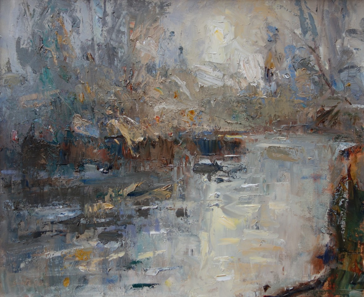 Gareth Parry, Yr Afon, Niwl Bore / The River, Morning Light