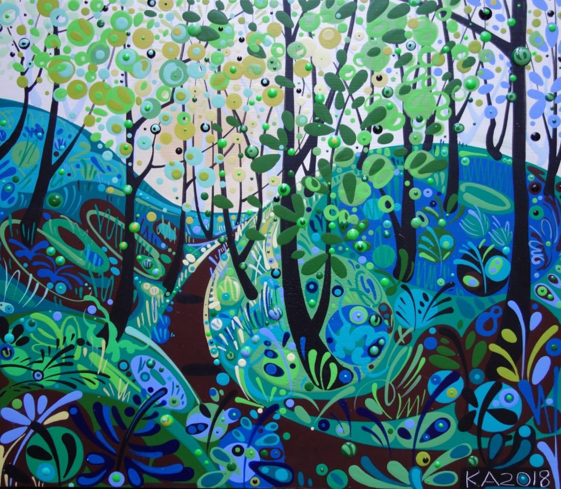 Katie Allen, Nicholaston Woods, Summer. Study I