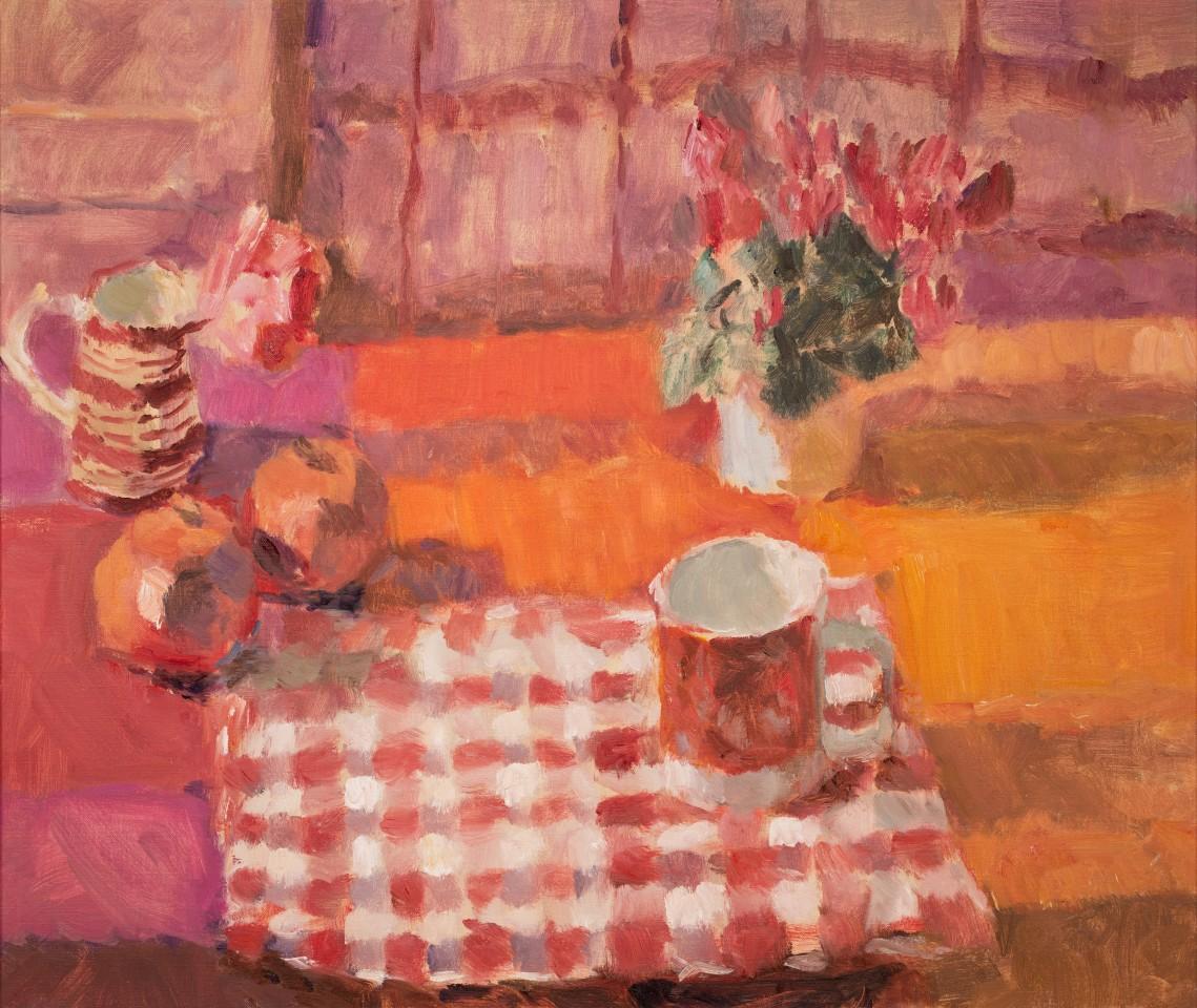 Lynne Cartlidge, Rose, Pomegranates and Cyclamen, Still Life