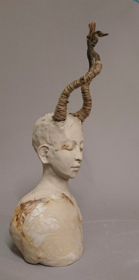 Sharon Griffin, White Faun with Antlers