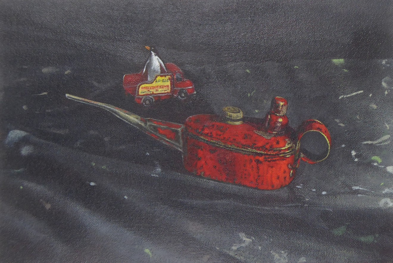 Kim Dewsbury, Still Life with Red Oil Can II