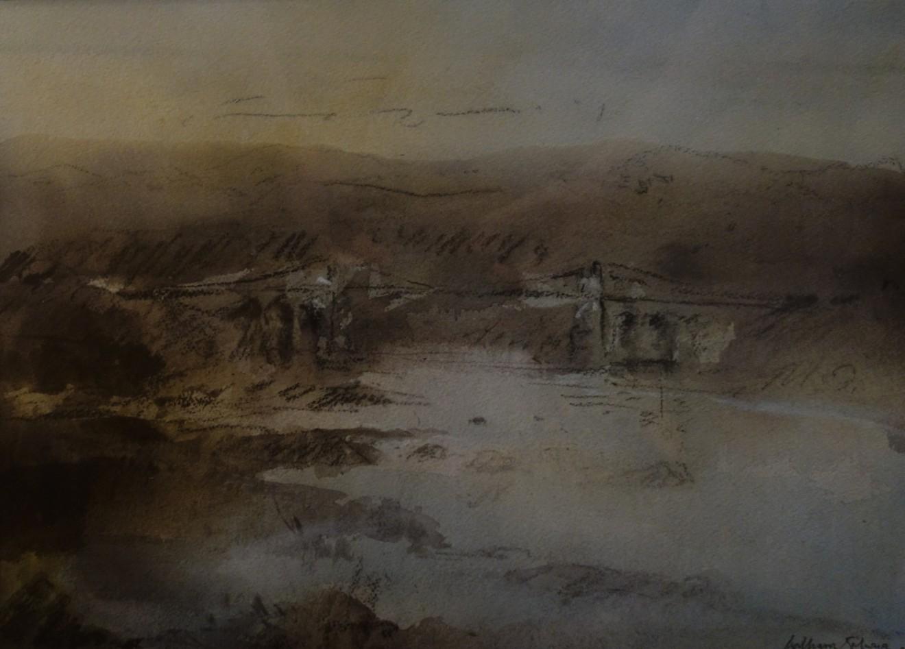 William Selwyn, Autumn, Menai Suspension Bridge