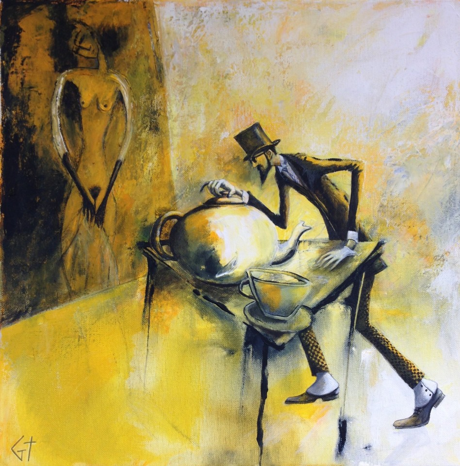 Gilly Thomas, Expressionist Painter with Spats