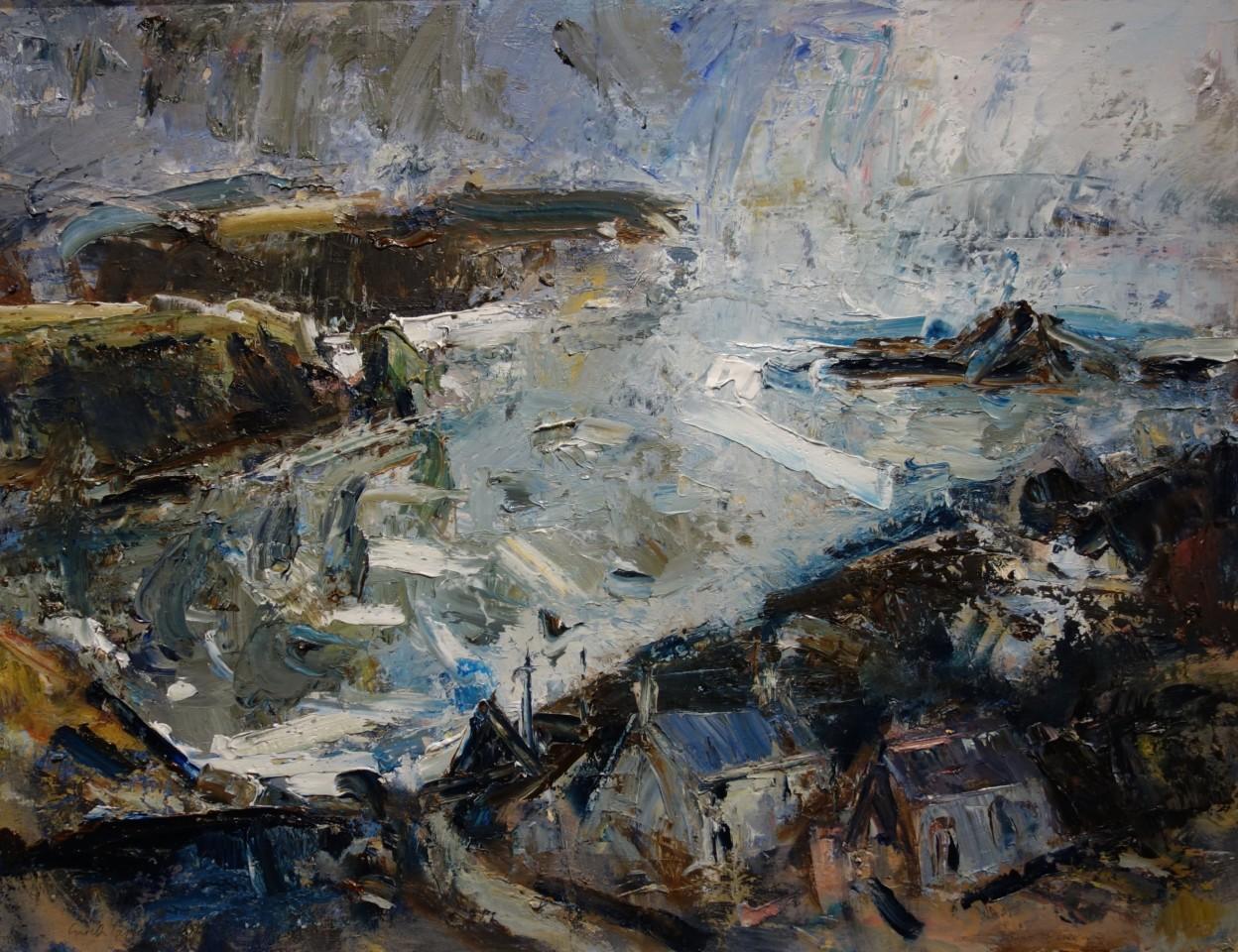 Gareth Parry, Farm by the Sea, Winter / Fferm ger y Môr, Gaeaf