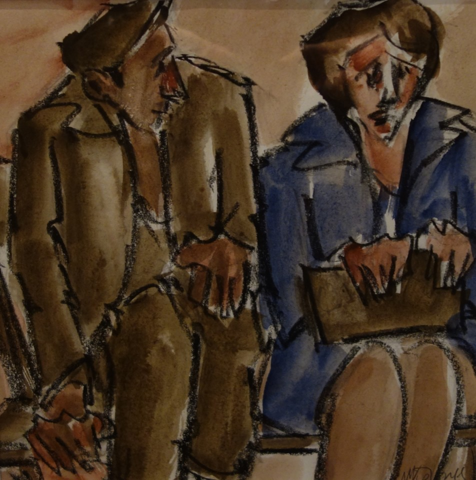 Mike Jones, Seated Couple, Royal Welsh