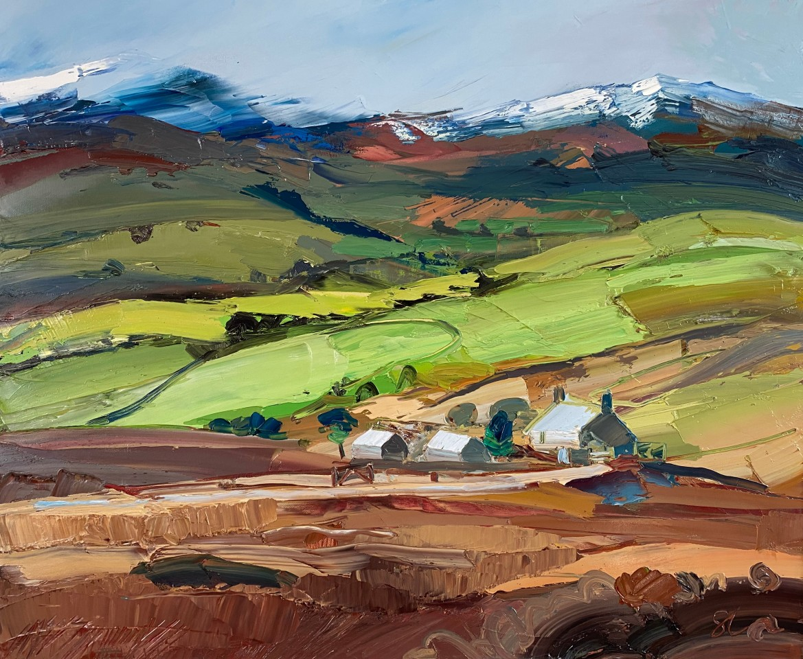 Sarah Carvell, Distant Tyrpeg Mynydd, Snowy Hills