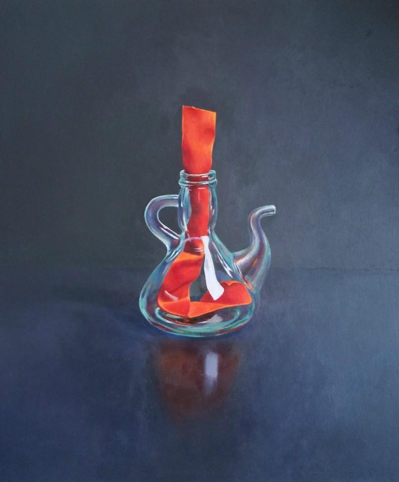 James Guy Eccleston, Glass Jug and Ribbon
