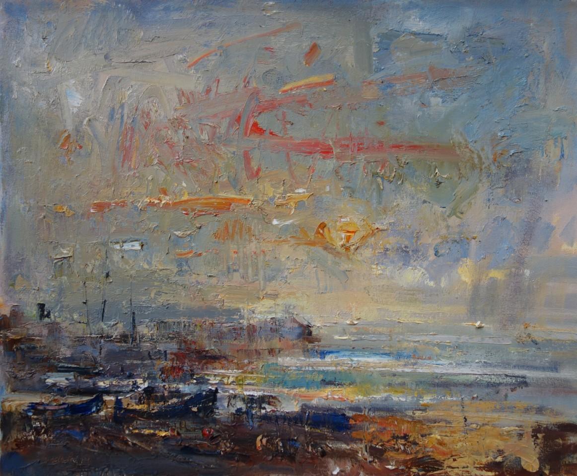 Gareth Parry, Machlud ar ôl Glaw, Trefor / Sunset after Rain, Trefor