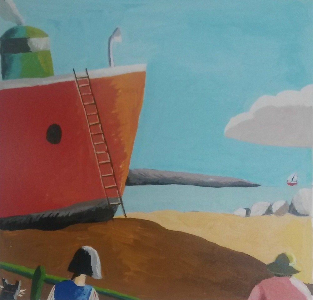 Emrys Williams, Red Boat with Ladder